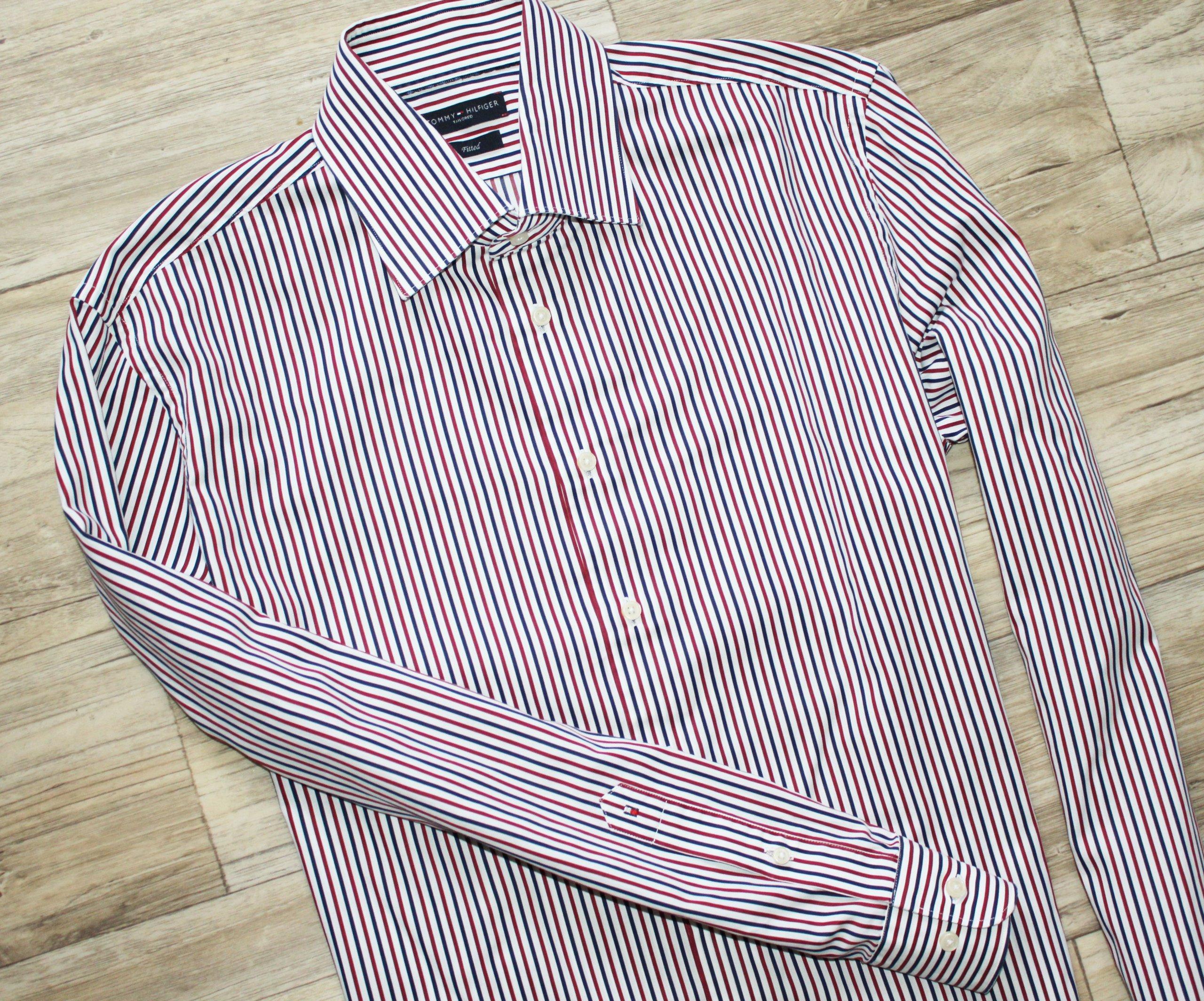 Koszula Tommy Hilfiger bdb 40 L fitted