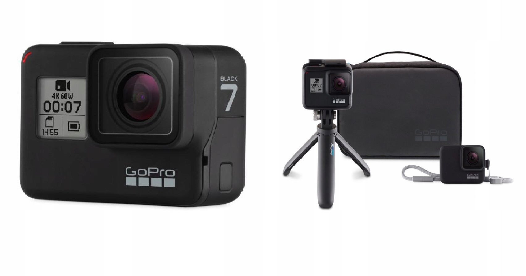 Kamera GoPro HERO7 Black + GoPro Travel Kit