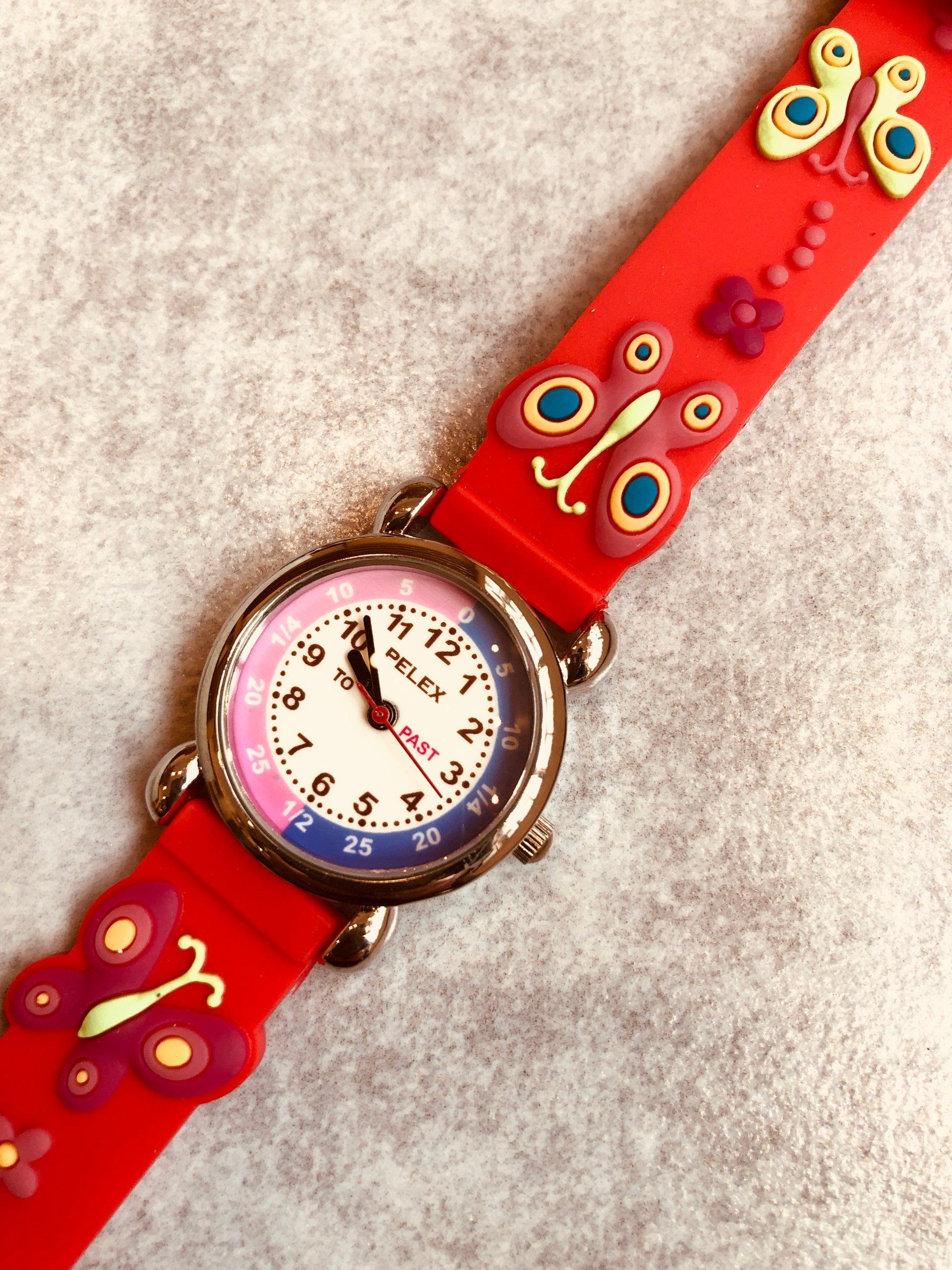 Zegarek Dzieciecy Pelex Czerwony Motylek
