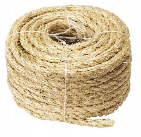 Linka sizalowa 15m 8mm sznurek z agawy sznur lina
