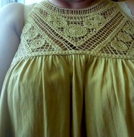 bluzka tunika ciążowa_NEXT_musztardowa żółta 42 44