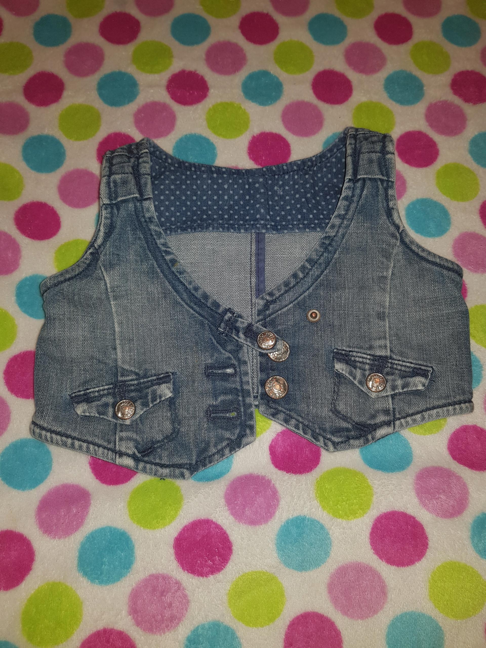 Kamizelka Jeans H&M dziewczynka 12m
