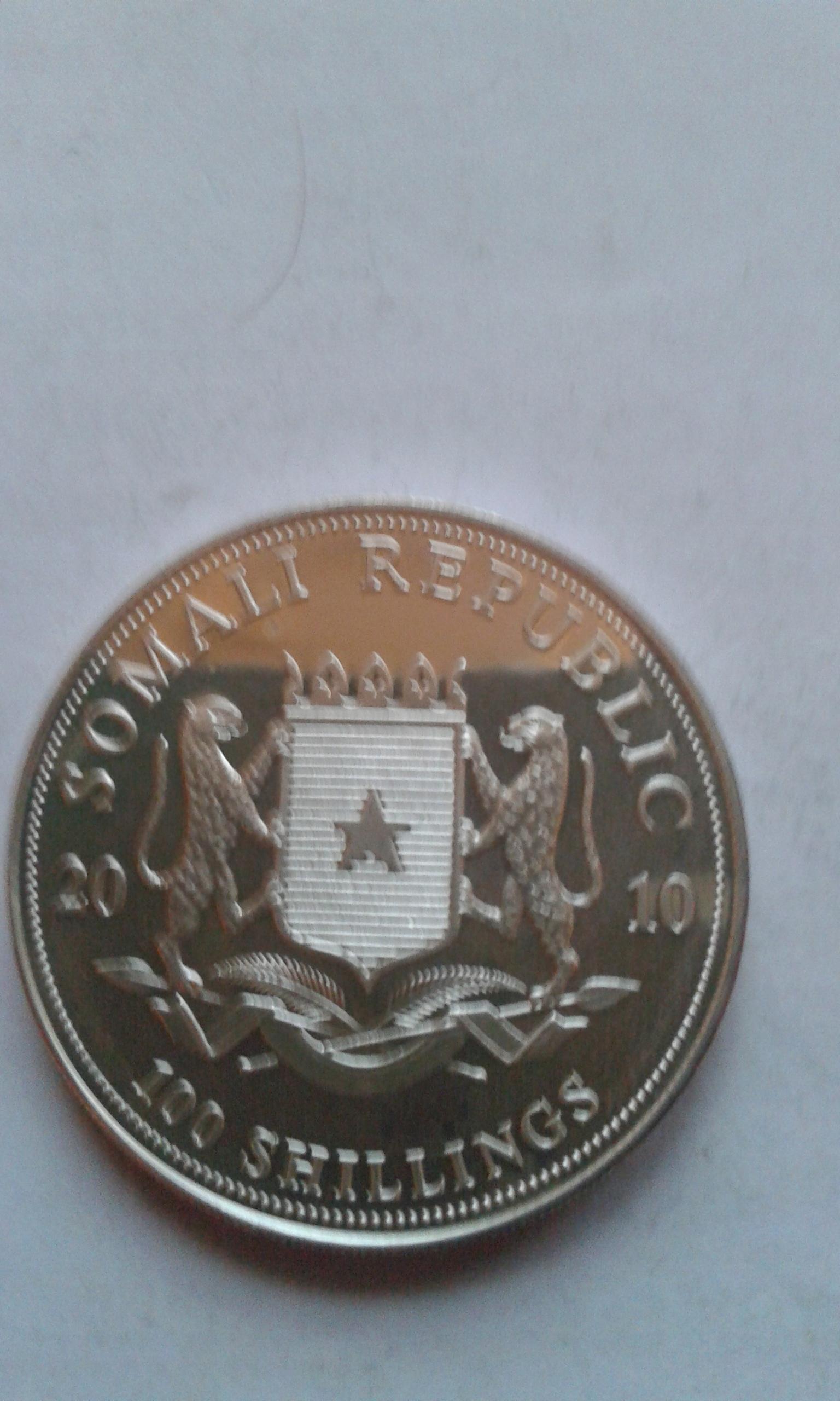 Somali 100 Szylingów 2010 Słoń St 1 [25]