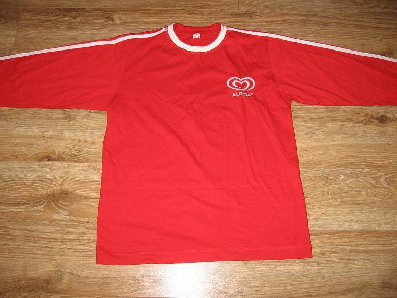 Czerwona koszulka Algida z długim rękawem M
