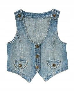 Świetna jeansowa kamizelka GYMBOREE rozm 5-6 lat