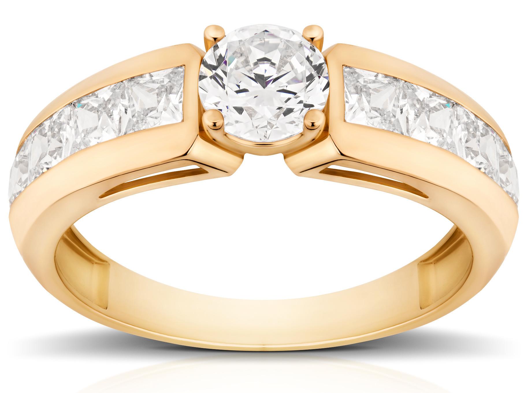Złoty Pierścionek Zaręczynowy 585 Królewski W Wa 6888388248