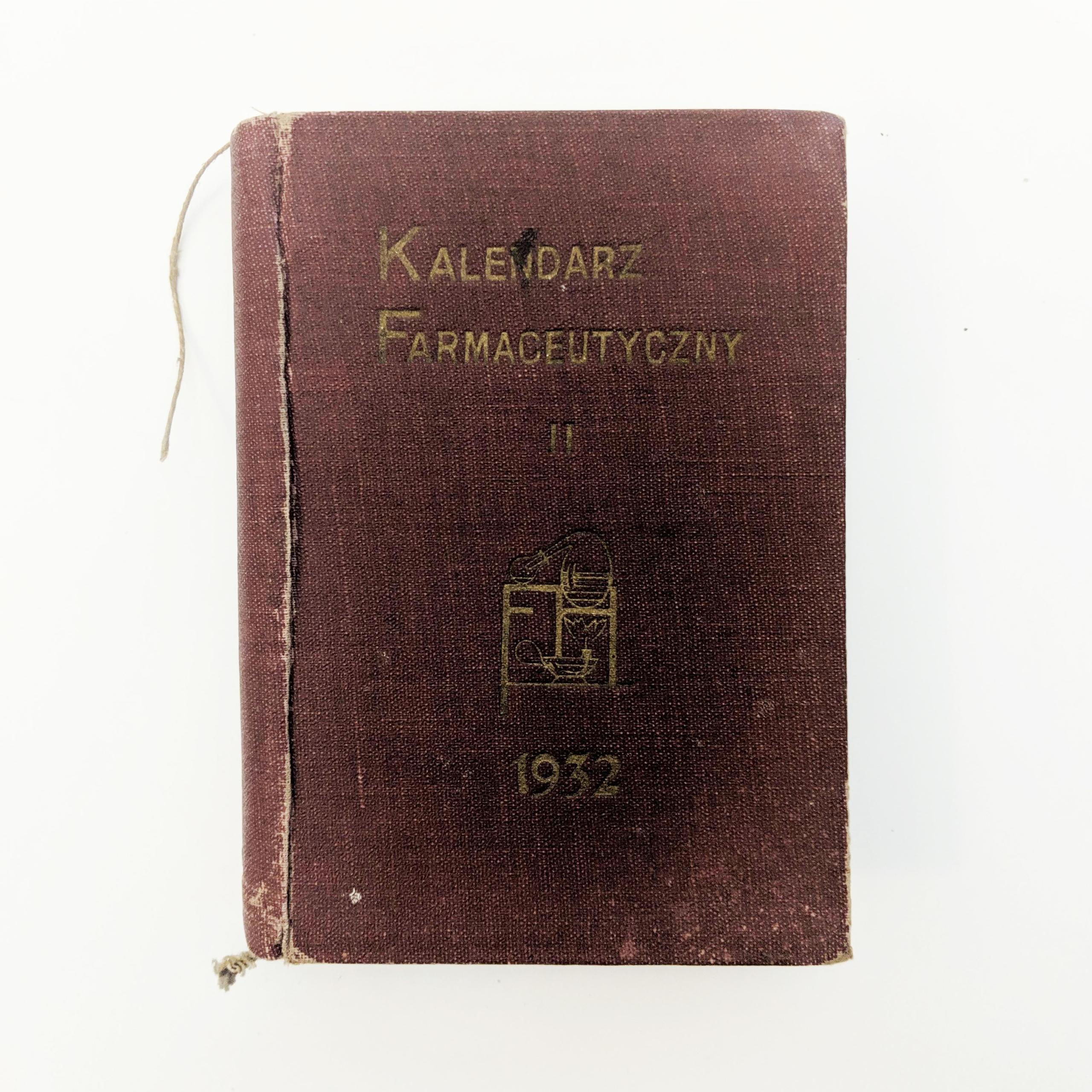 Kalendarz farmaceutyczny II 1932