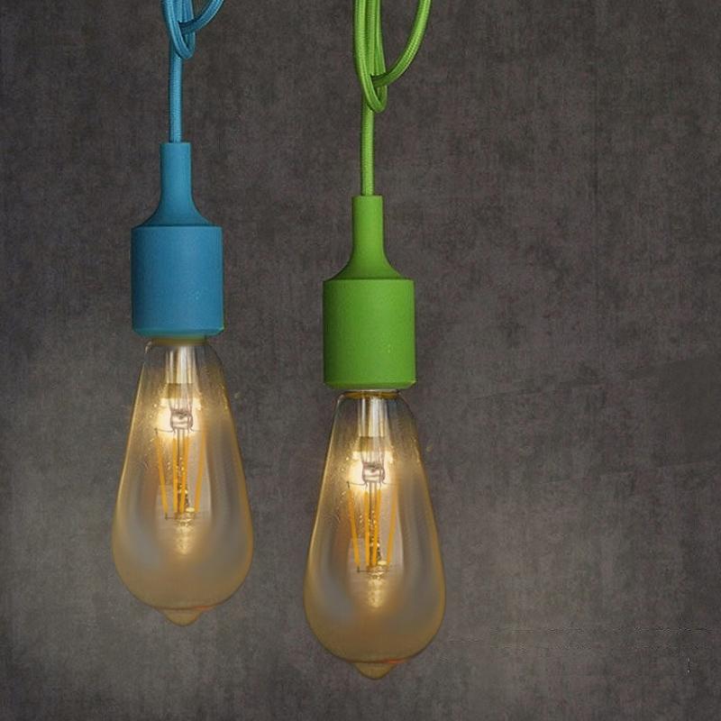 Lampa Sufitowa Z Długim Kablem Komplet Kolory 7438737962