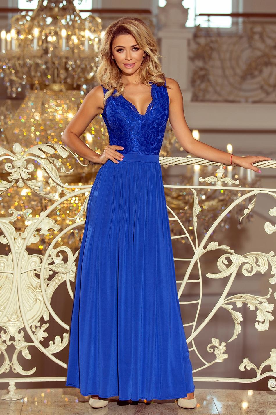 95cdb513f4 Długa suknia balowa MAXI wesele studniówka R. L - 7624015791 ...