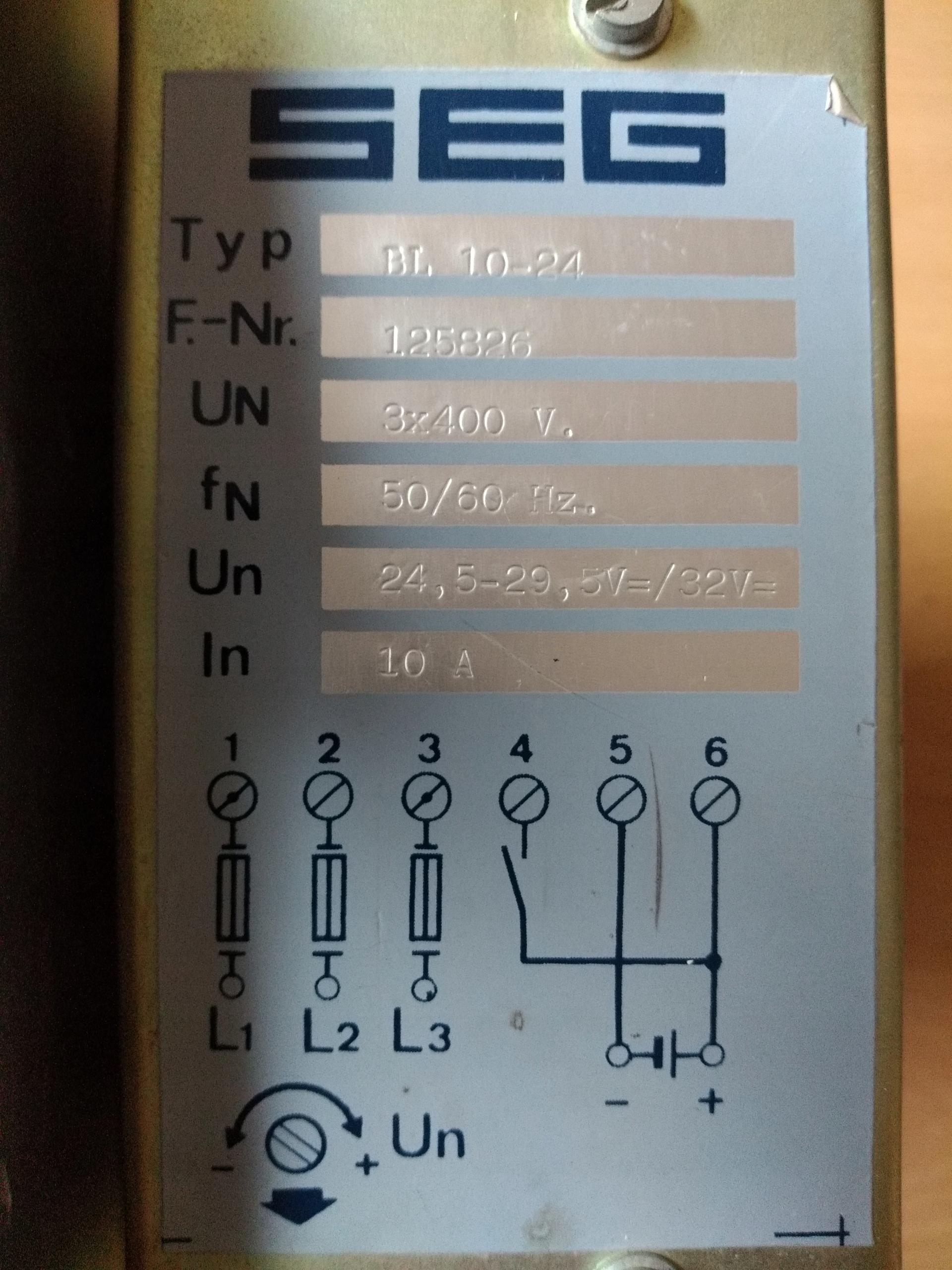 Transformator 10A 3x400AC/24V DC