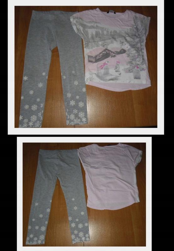 KOMPLET NA LATO R 110/116 legginsy + bluzeczka