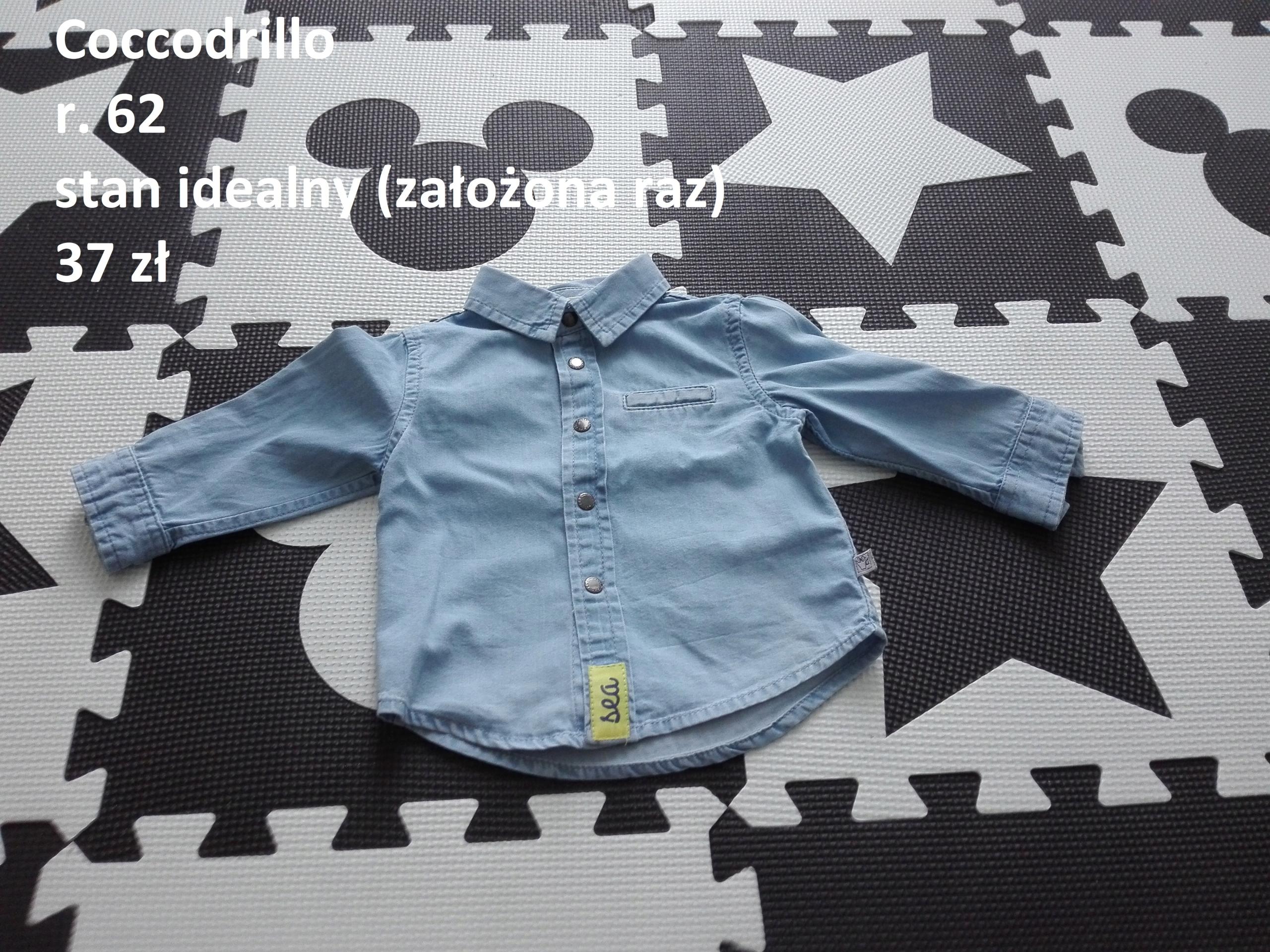 Koszula jeansowa Coccodrillo r.62 jak NOWA