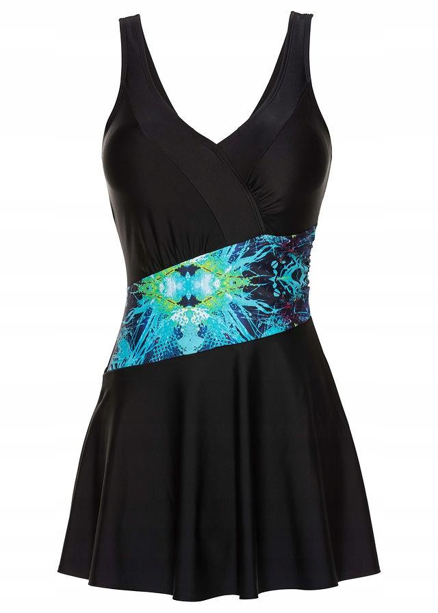 L357 BPC Sukienka kąpielowa z nadrukiem r.50