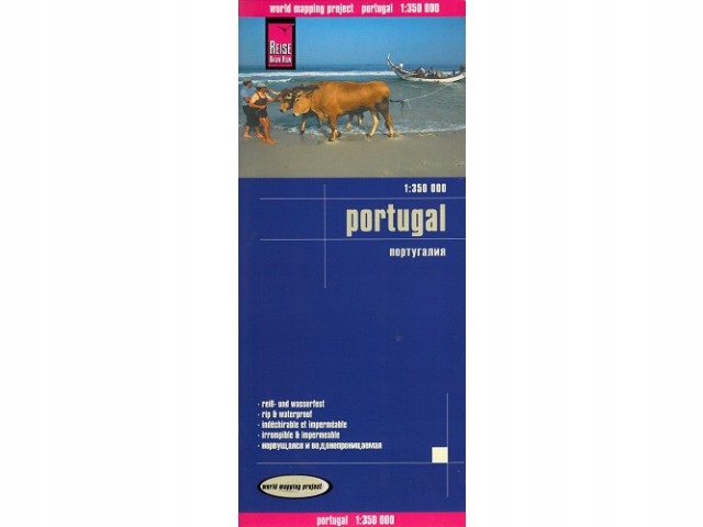Portugalia mapa samochodowa Portugalii - Wys. 24h