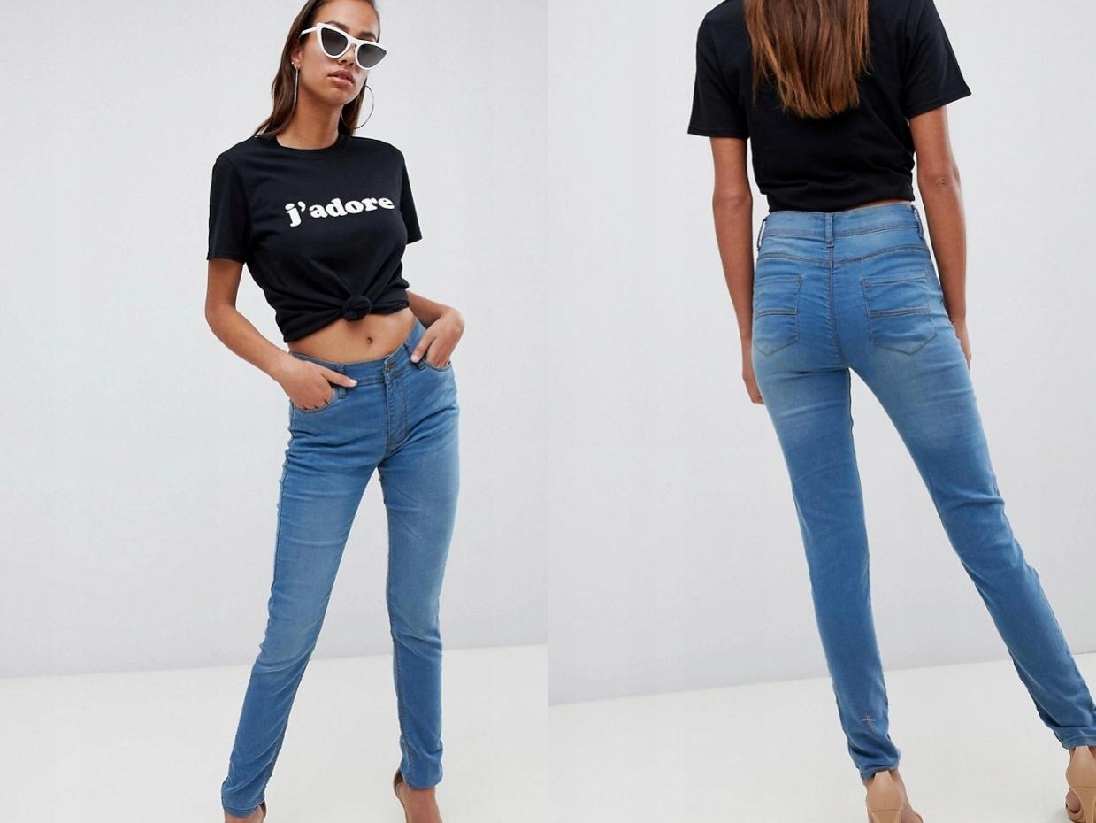 Boohoo - Skinny Jeansy z Wysokim Stanem M/38