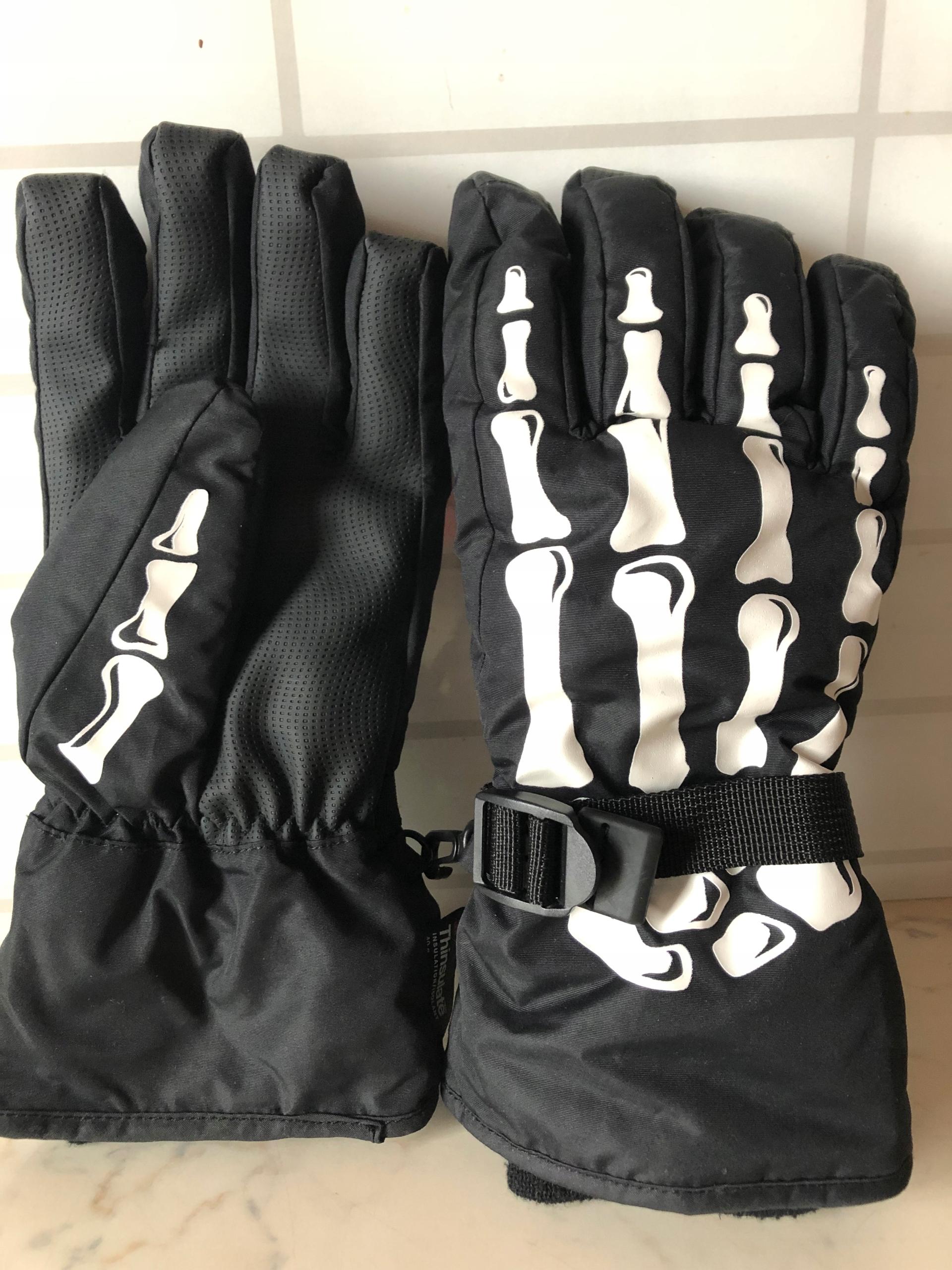 Grube rękawiczki szkielet 158-170 H&M j. nowe