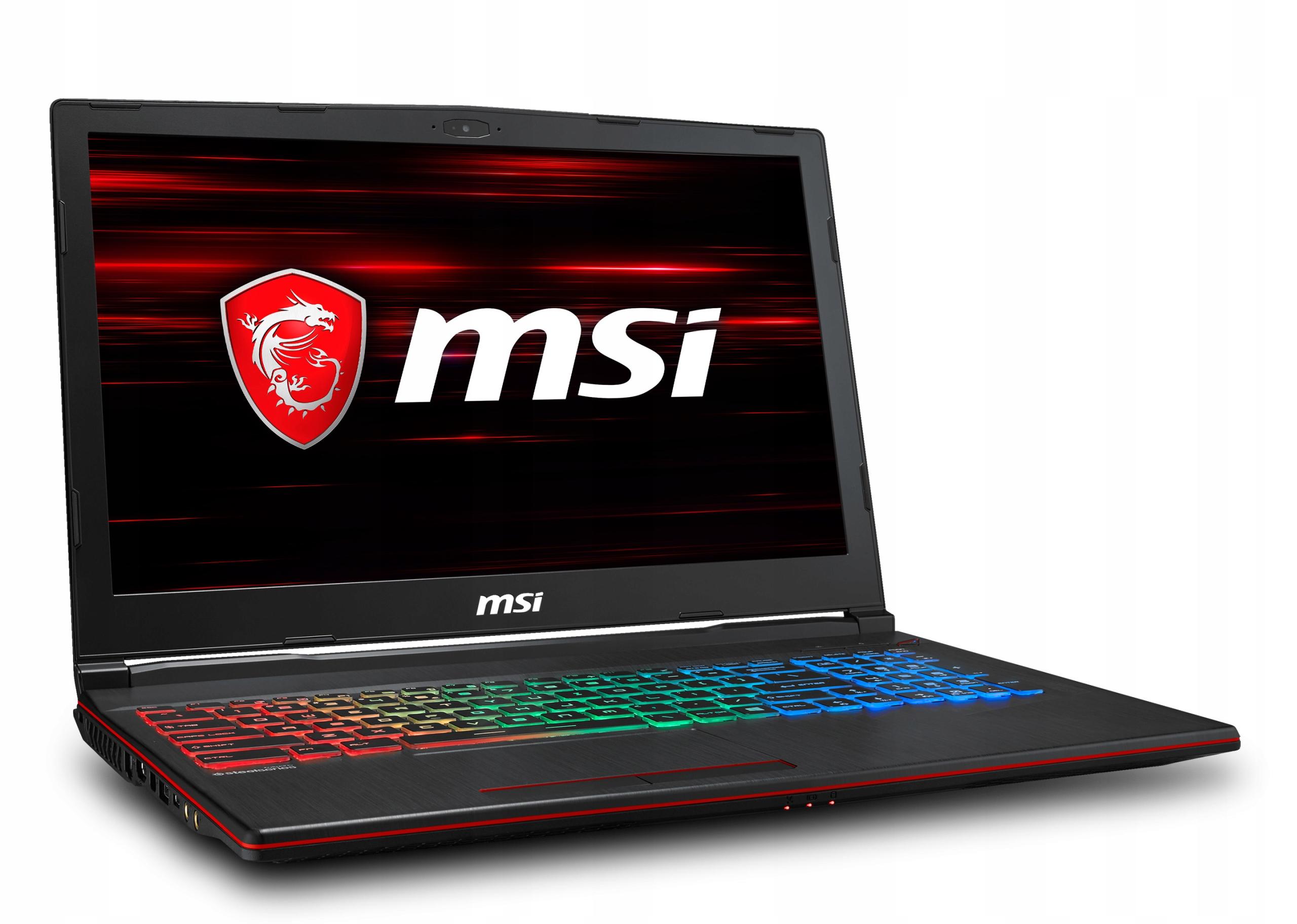 MSI GP63 8RD i7-8750H/Ram 16/SSD 256/1050Ti