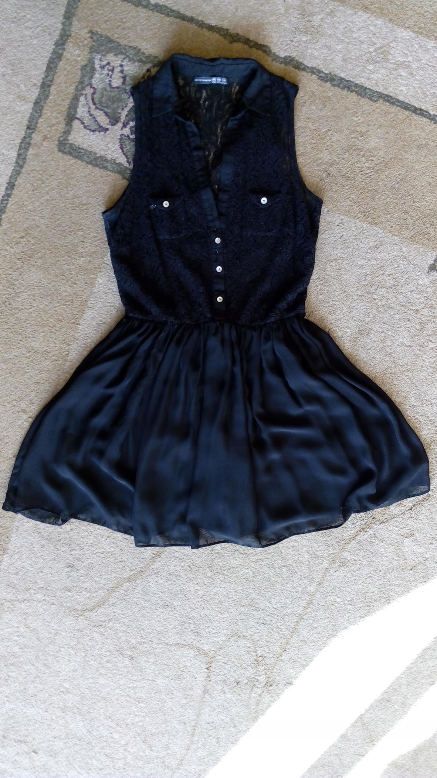 Atmosphere primark sukienka mgiełka czarna 40 L