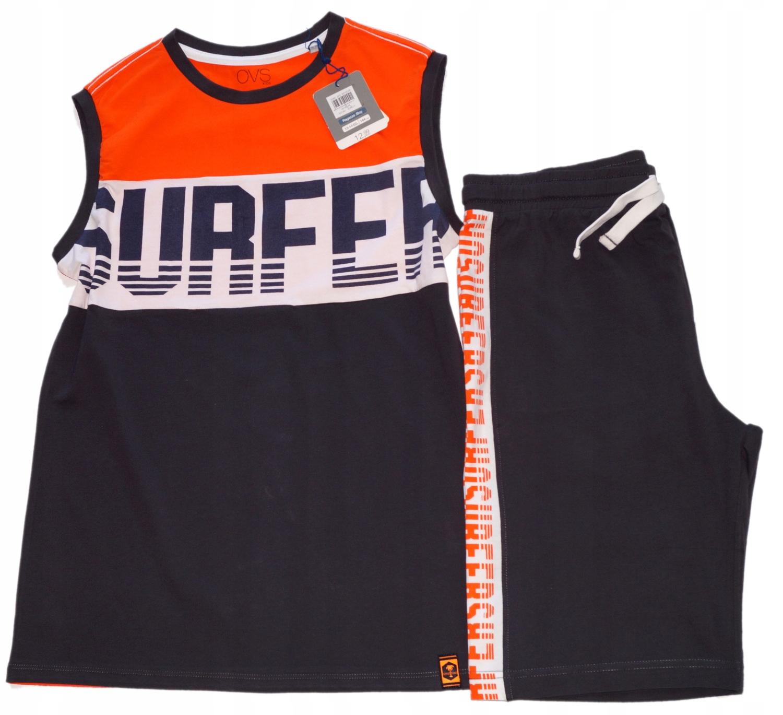 OVS Italia t-shirt Surfer+krótkie spodenki NEW 164