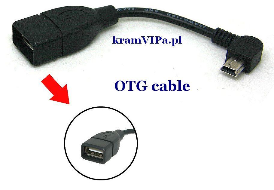 Adapter OTG mini USB 5PIN M na USB F PROMOCJA