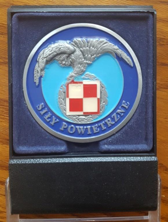 Ryngraf Coin Polskie Siły Powietrzne - z podstawką