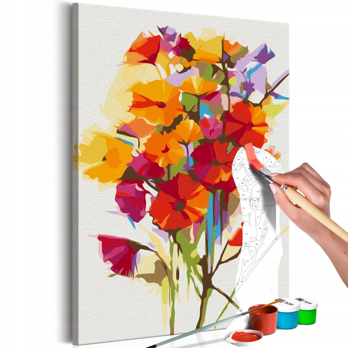 Obraz do samodzielnego malowania - Kwiaty lata (Ro