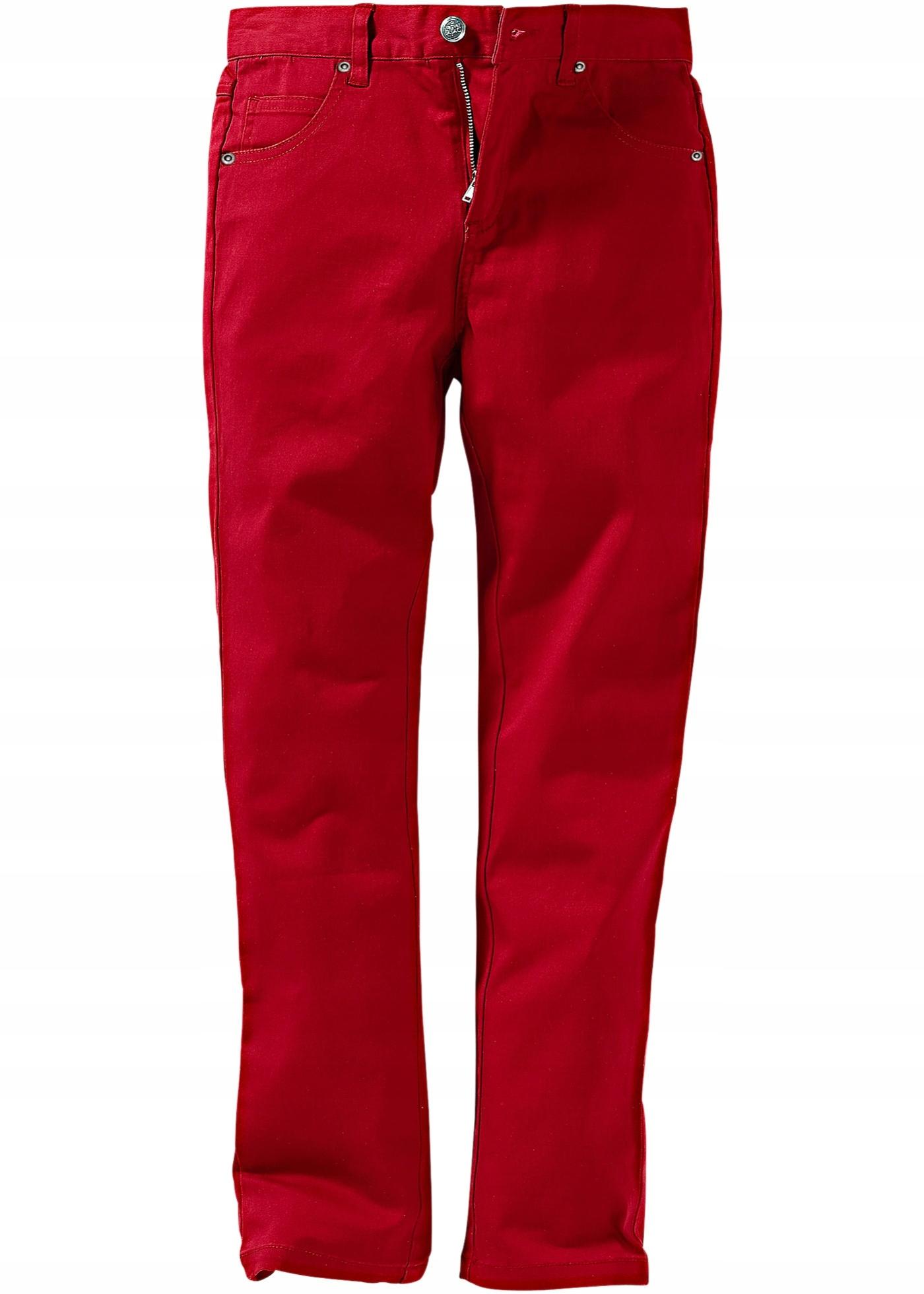E236 BPC Spodnie twillowe Slim Fit 158 pas:76-84