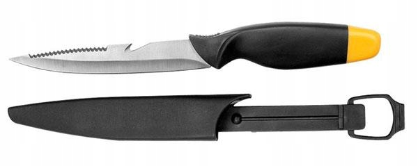 Uniwersalny Nóż wędkarski PŁYWAJĄCY 3 w1+POKROWIEC