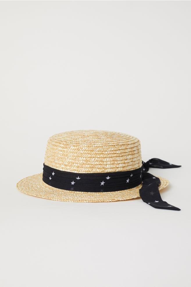 H&M, M/56, kapelusz słomkowy