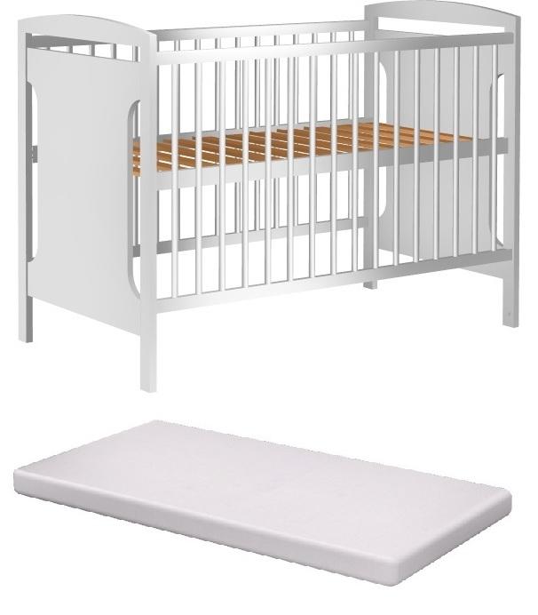 Łóżeczko dziecięce JAŚ 120x60cm +materac pianka
