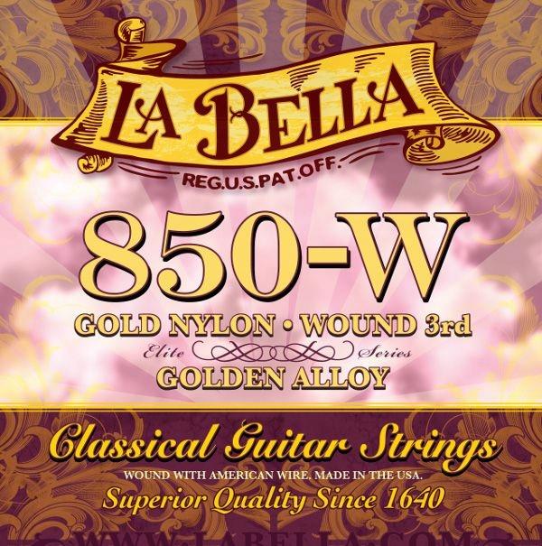 Struny La Bella 850-W Elite Gold Nylon + Gratis