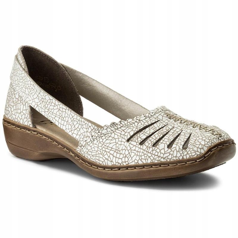RIEKER 413X9-80 półbuty sandały skóra naturalna 38