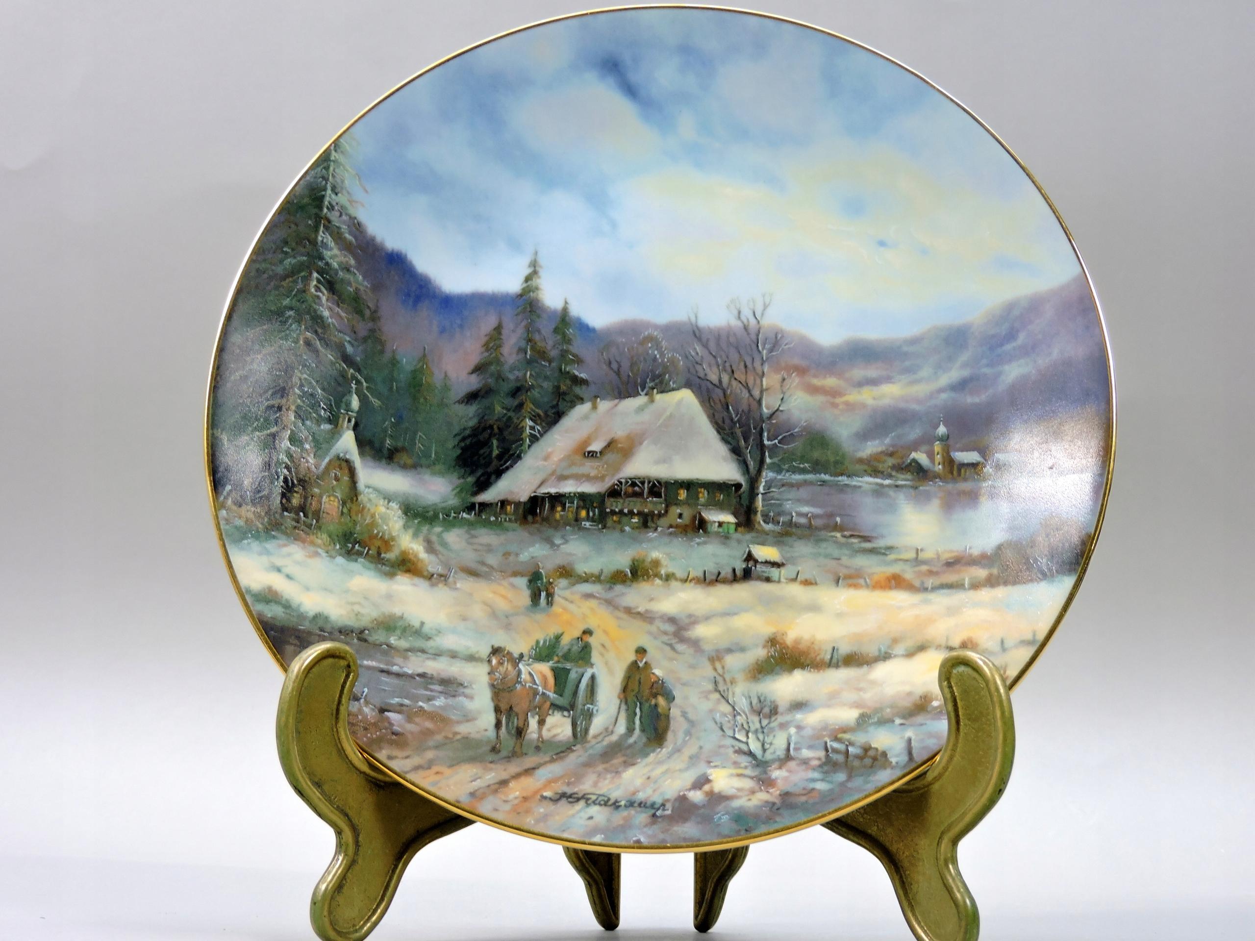 Talerz wisi obraz pejzaż góry jezioro porcelana