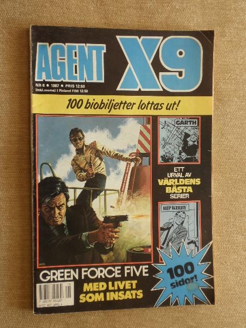 WYPRZEDAŻ KOMIKS AGENT X9 Nr.8 1987r. SWEDEN