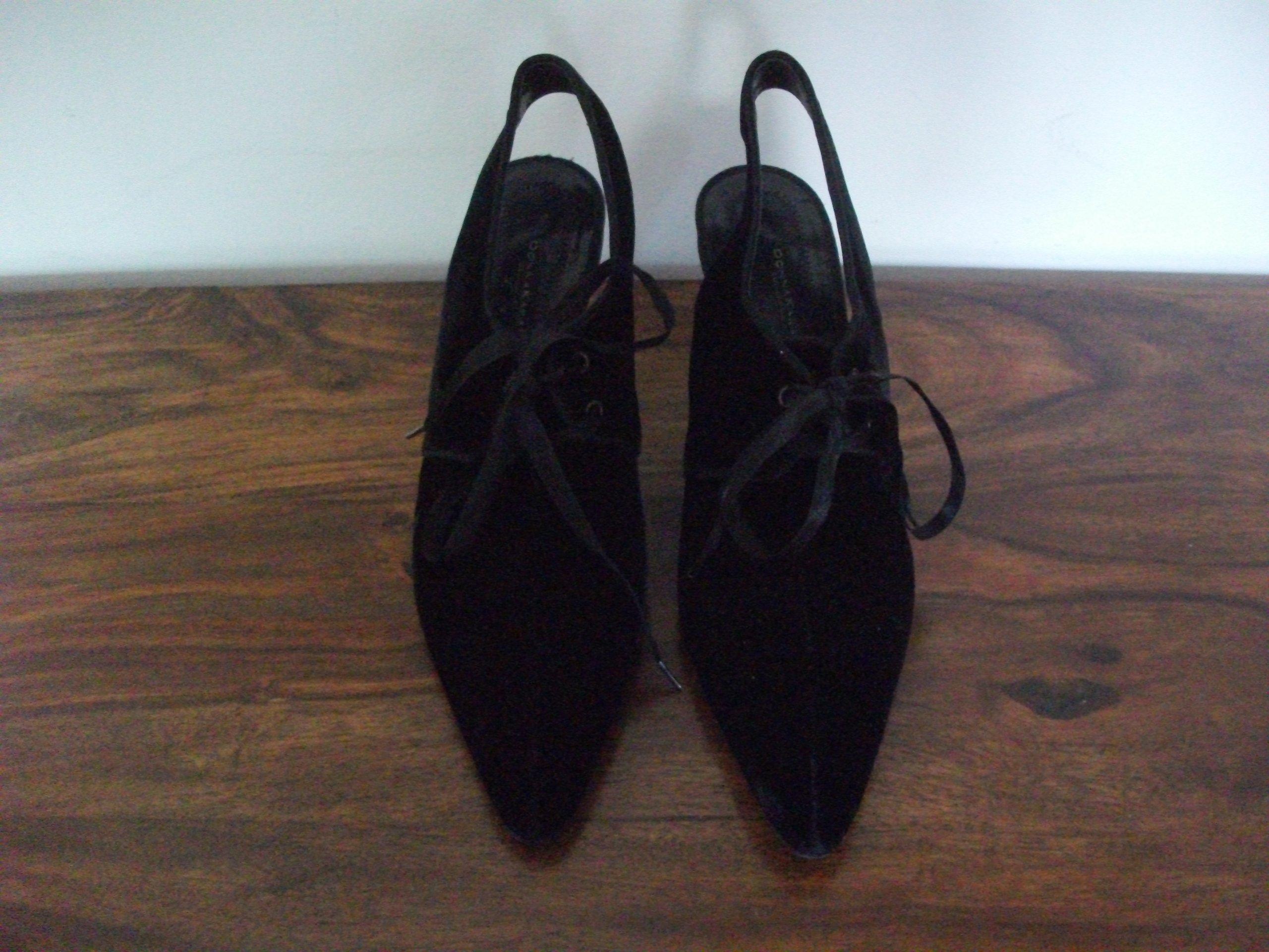 bordowe sandały na obcasie karen velvet