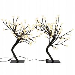 60379 vidaXL Drzewka LED 45 cm x 2 Żółte