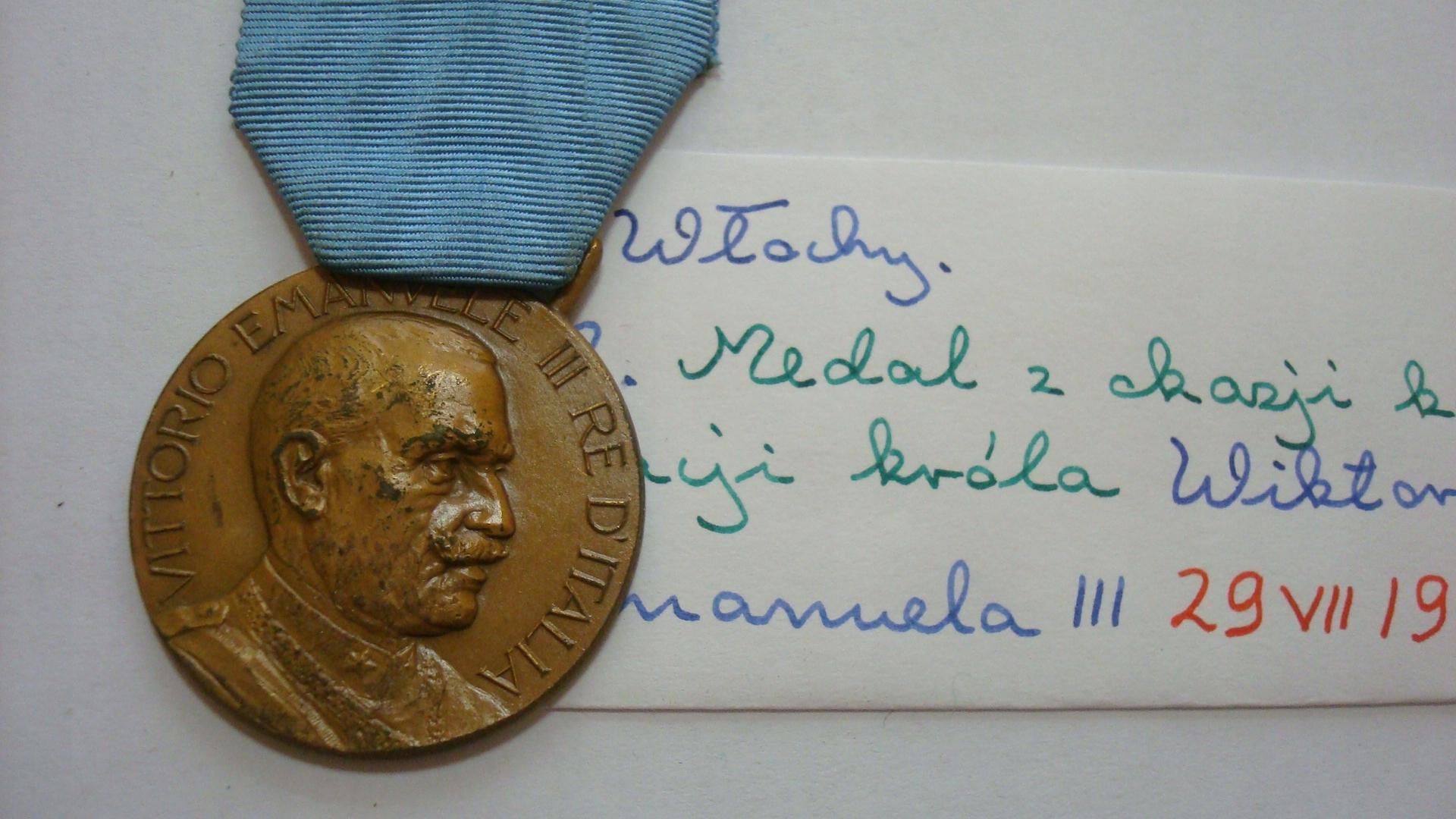Medal Włochy Wiktor Emmanuel koronacja