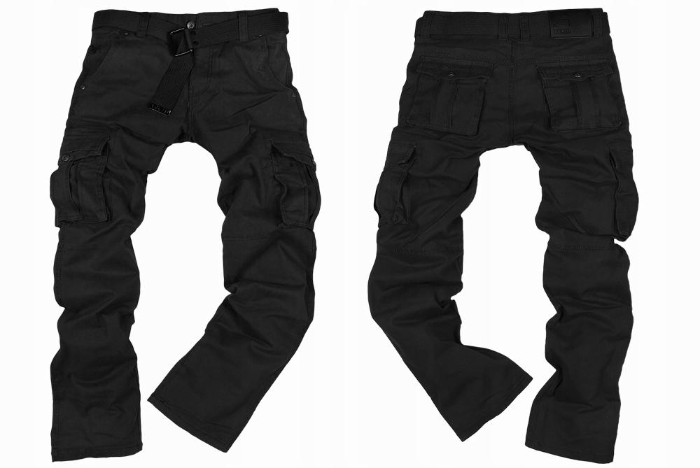 Spodnie bojówki mocne ITENO 1672 CZARNE - r. 31