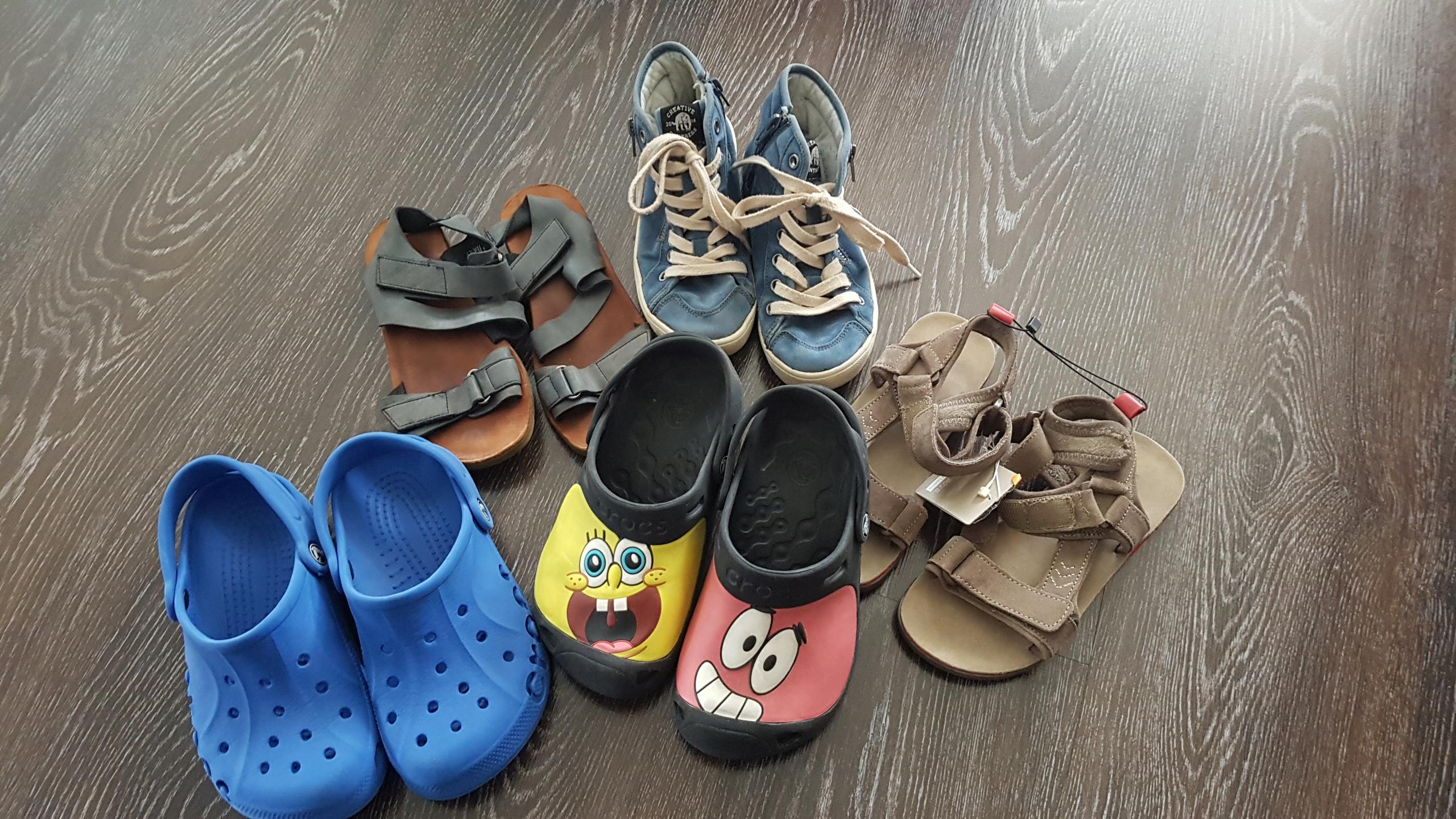 Zara sandały 32 Crocs trampki 5sztuk SpongeBob
