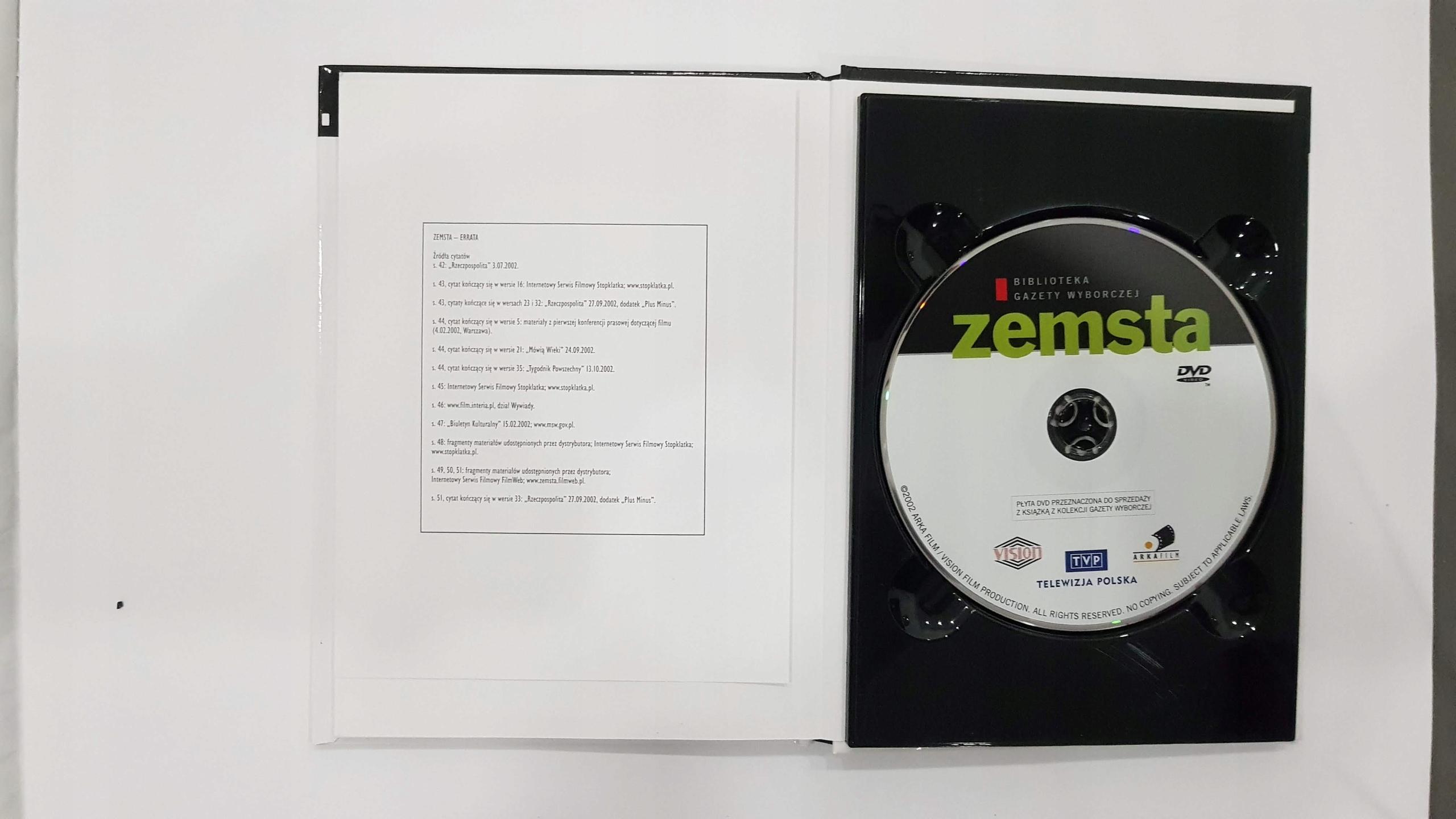 zemsta DVD