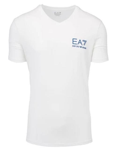 EA7 EMPORIO ARMANI T-SHIRT KREMOWY MAŁE LOGO /XL