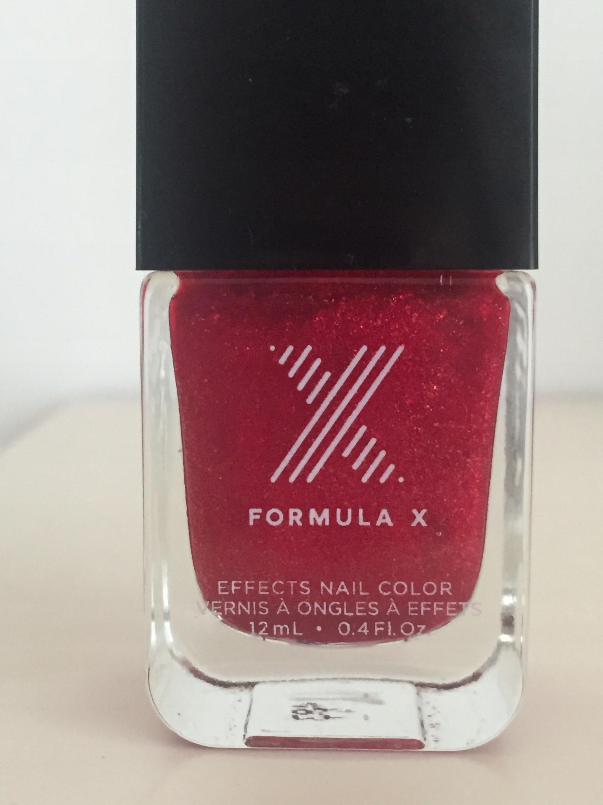 Lakier Formula X brokat czerwień