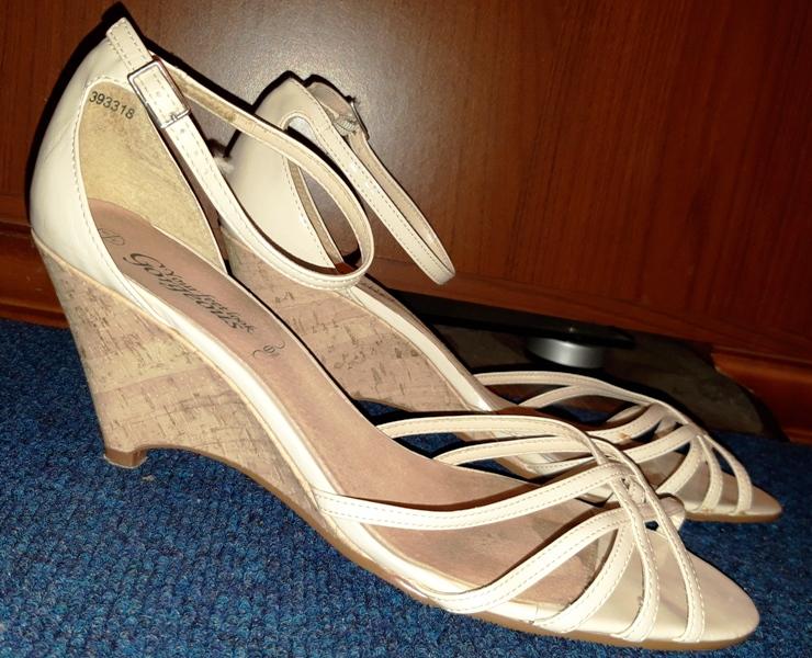 Lakierowane sandały damskie NEW LOOK 41 KOTURNA