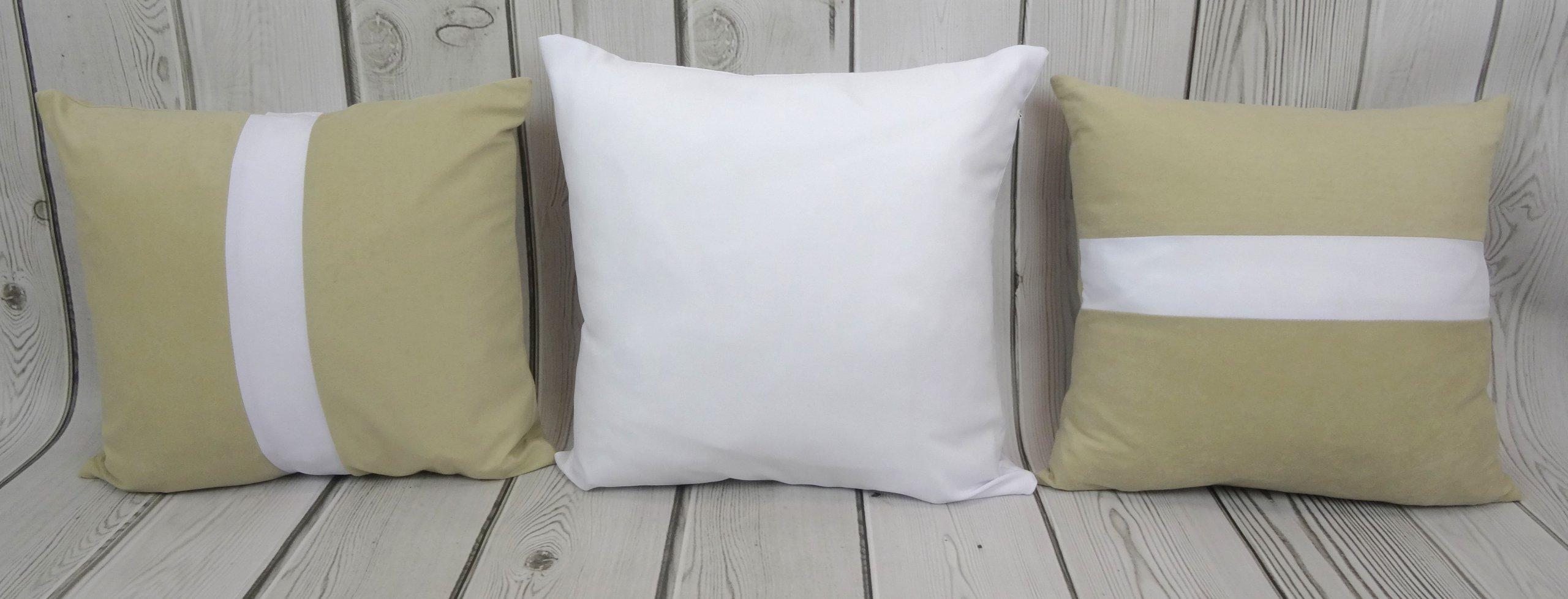 Poduszki Dekoracyjne Beżowo Białe 6994419188 Oficjalne