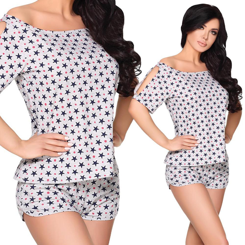 Bawełniana Piżama koszulka + szorty Ładna S/M