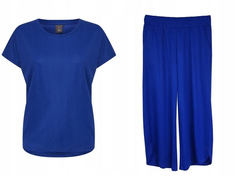 ICHI Ihhola Komplet t-shirt spodnie culottes S