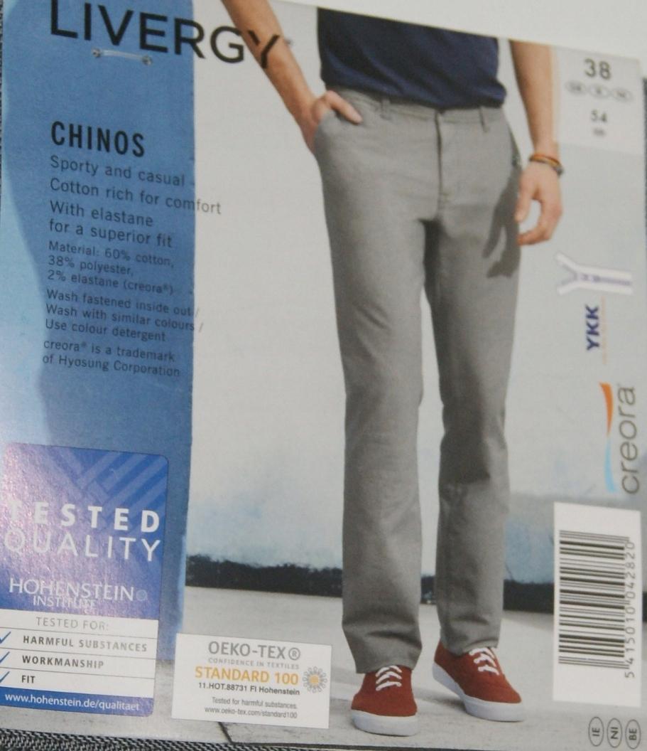 8beb5e0c Męskie spodnie LIVERGY CHINOS ROZ. 54 - 7623801606 - oficjalne ...