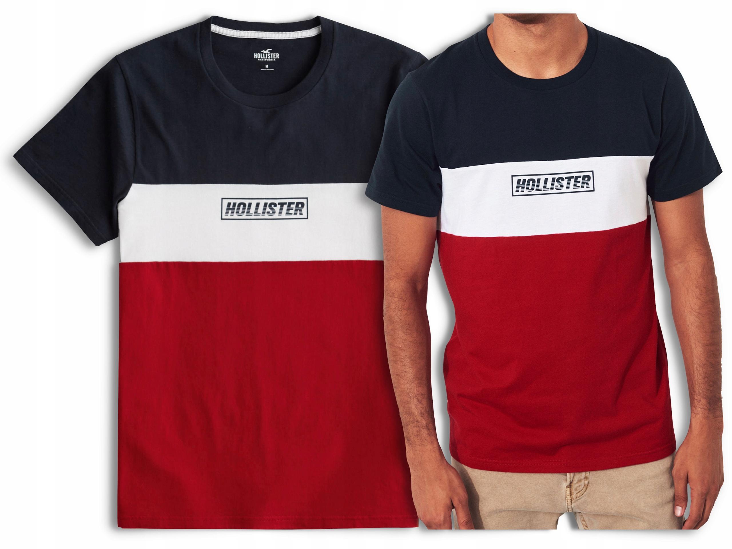 koszulka t-shirt HOLLISTER Abercrombie Logo USA S