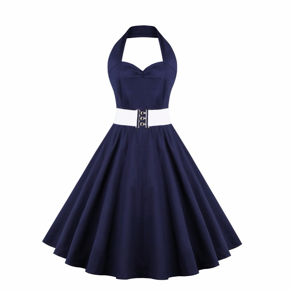 17b6df400f Sukienka PIN UP retro rockabilly VINTAGE lata 50 - 7273260312 ...