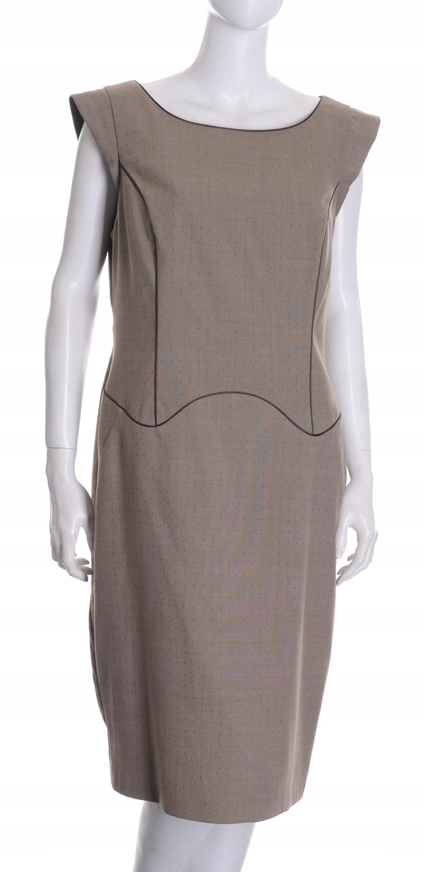 NEXT elegancka beżowa sukienka do pracy 44 MISIZM